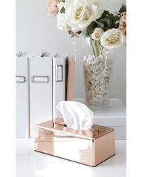 Showpo | Bless You Tissue Box Case In Rose Gold | Lyst