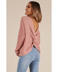 Showpo - No Place Else Knit Sweater - Lyst