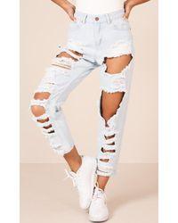 Showpo - Mia Jeans In Mid Wash Denim - Lyst