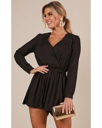 Showpo - Lost Time Playsuit - Lyst