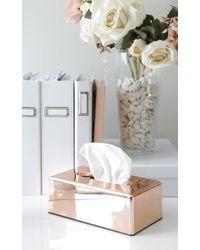 Showpo Bless You Tissue Box Case In Rose Gold