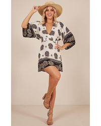3e6bdddd815 French Connection Sunshine Bloom Embroidered Smock Dress in Black - Lyst