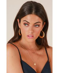 Showpo - Lovesick Necklace In Gold - Lyst