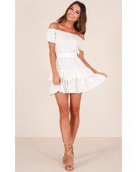 Showpo - Sticks And Stones Dress In White - Lyst