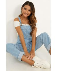 Showpo Kiera Denim Overalls