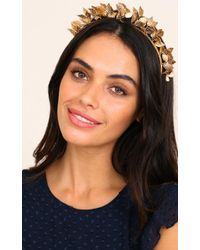 Showpo - What Youve Done Headband In Gold - Lyst