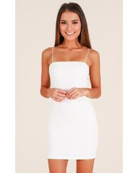 Showpo - Make You Mine Dress In White - Lyst