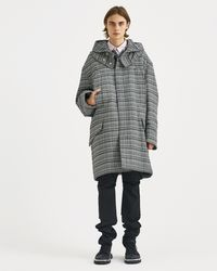 Raf Simons - Black And White Striped Padded Parka - Lyst