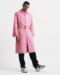 Martine Rose - Pink Frosted Rain Coat - Lyst