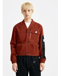 Xander Zhou - Red Panelled Jacket - Lyst