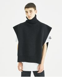 Raf Simons - Black Turtleneck With Patches - Lyst
