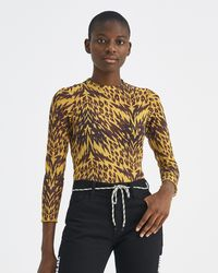 Aries - Yellow And Black Animal Print Long Sleeve Top - Lyst