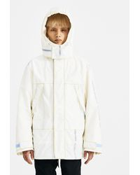 KANGHYUK - Off White Fake Fur Hooded Jacket - Lyst