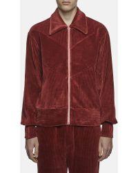 Xander Zhou | Ribbed Velour Jacket | Lyst
