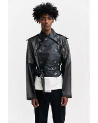 Xander Zhou - Vinyl Cropped Jacket - Lyst