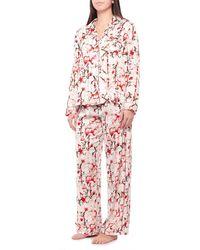 Tahari - Large Floral Satin Notch Collar Pajamas - Lyst