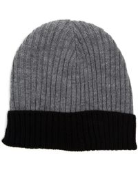 Chaos - Ribbed Handknit Cuffed Beanie (for Men) - Lyst