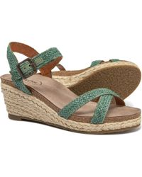 8caee7e5d29 Taos Footwear - Made In Portugal Hey Jute Wedge Sandals (for Women) - Lyst