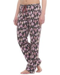 Cynthia Rowley Sleepwear Forest Owls Pants - Gray