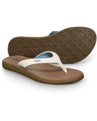 bdf3683b862 Lyst - TOMS Blue Jersey Camo Youth Verano Flip-flops in Blue