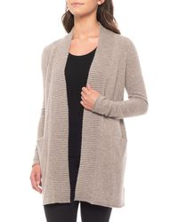 Nanette Lepore - 100% Cashmere Cardigan Sweater With Textured Placket - Lyst
