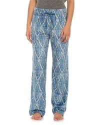 Echo - Loose Paisley Micro Velour Pajama Pants (for Women) - Lyst