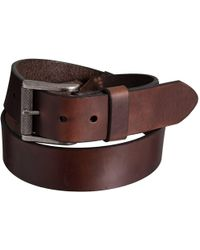 Lejon - Smooth Leather Dress Belt With Buckle (for Men) - Lyst