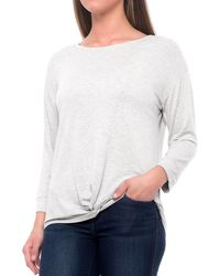 Tahari - Extended Shoulder Knot-front Shirt - Lyst