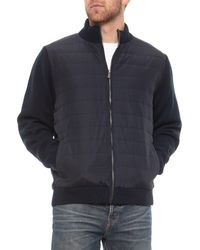 Tricots St Raphael - Front-quilted Sweater Jacket With Micro-sherpa Lining - Lyst