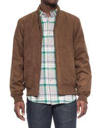Weatherproof - Microsuede Baseball Jacket (for Men) - Lyst