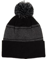 0e886c6afe0 Lyst - True Religion Two-tone Knit Beanie in Black for Men
