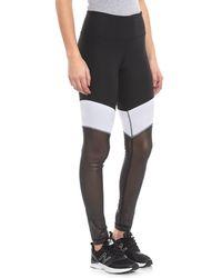 6ecbfe42f90ea5 90 Degree By Reflex Black Mesh Pocket Leggings in Black - Lyst