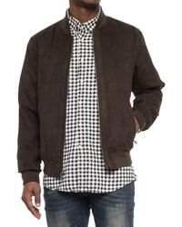 Weatherproof - Microsuede Baseball Jacket (for Men) - Lyst