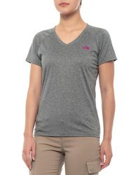 1cf18496 Lyst - The North Face Reaxion Amp V-neck T-shirt in Blue