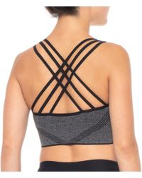 d8ff277559d4c Lyst - Calvin Klein Performance Lattice Long Line Sports Bra in Black