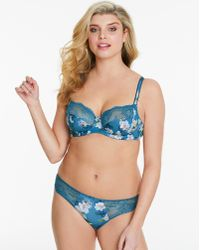 e6a9727b4fe Urban Outfitters Uo Camilla Lace Button-front Bra Top in Green - Lyst