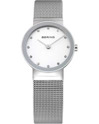 Bering - Ladies Ss Mesh Bracelet Watch - Lyst
