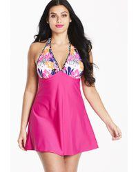 4e49eb50da903 Calvin Klein A-line Wrap Swimdress in Purple - Lyst