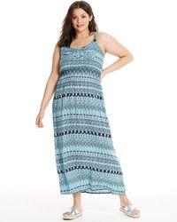 Apricot - Blue Printed Maxi Dress - Lyst