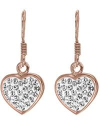 Simply Be - Sterling Silver Rose Plated Drop Earring - Lyst