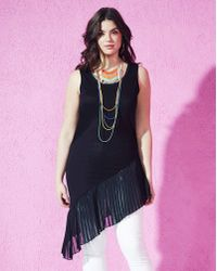 Simply Be - Extreme Pleat Chiffon Vest - Lyst