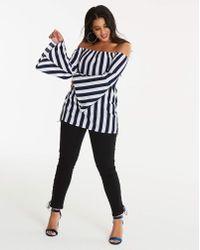 AX Paris - Curve Stripe Bardot - Lyst
