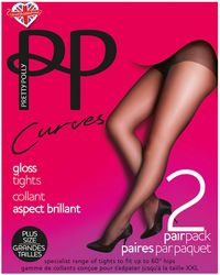 Pretty Polly - Curves 2pk Gloss Tights - Lyst