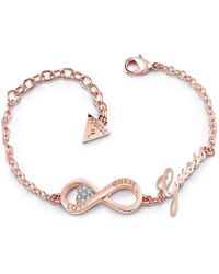 Guess - Endless Love Infinity Bracelet - Lyst