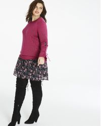 Simply Be - Flared Sleeve Eyelet Jumper - Lyst