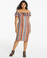 Simply Be - Midi Ruffle Wrap Dress - Lyst