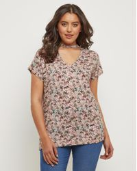 Simply Be - Joe Browns Butterfly Jersey Top - Lyst