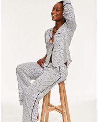 DKNY - New Signature L/s Top & Pant Set - Lyst