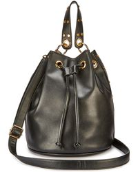 a4fcf594e772 Lyst - Forever 21 Faux Leather Duffle Bag in Black