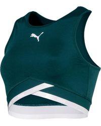 22c82786b613 Lyst - AKIRA Puma X Fenty Mesh   Bustier Top W Sleeves in Natural